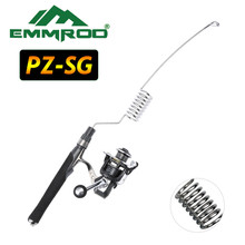 EMMROD New stainless steel Portable fishing rod Spinning Rod Sea pole pesca Strong Spring force PZ-SG
