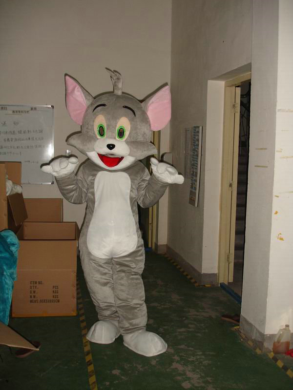 Tom cat dan jerry mouse mascots costume adult size Tom cat and jerry - Kostum karnival - Foto 3