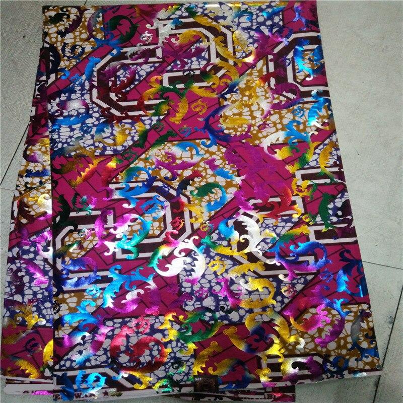 T1!Red mosaic gold fabrics 2017 hollandais super wax latest african wax prints fabricsfor women&men cloth 6yard/lot ! J91082