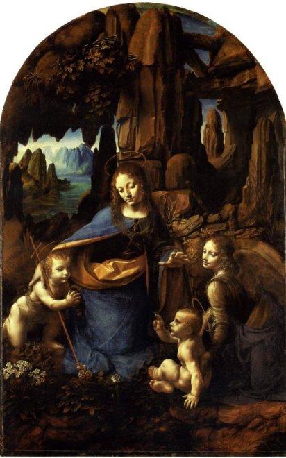 Célèbre Portrait Toile Peinture Murale La Vierge Aux Rochers De Londres par Leonardo Da Vinci Peinture À L'huile Réplique Peint À La Main