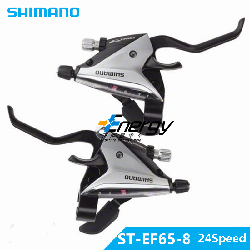 SHIMANO EF65 3X8 24-speed bicycle shifter brakes MTB derailleur connection DIP drive Mountain bike brake lever free delivery microshift 7 speed sb r472 2x7s shifter double 14 speed derailleur road bike bicycle shift lever set compatible for shimano