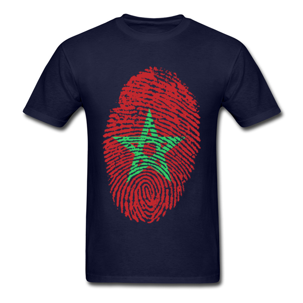 Morocco Flag Fingerprint_navy