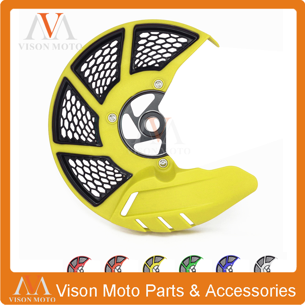 Front Brake Disc Rotor Guard Cover For SUZUKI RMZ250 2007 2008 2009 2010 2011 2012 2013 2014 2015 2016 2017 RMZ450 RMX450Z 10-16 car rear trunk security shield cargo cover for jeep compass 2007 2008 2009 2010 2011 high qualit auto accessories
