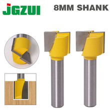 """1"""" Bottom Cleaning Router Bit   8"""" Shank"""