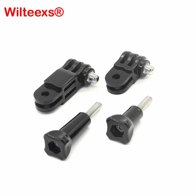 WILTEEXS Tripod Action Camera Accessories Three-way Adjustable Pivot Arm For Hero 5 4 Session 3+ Sj4000 Sjcam XIAOYI 4K