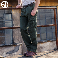 2017 Fashion Casual Tooling Male Multi Pocket Pants Cotton Overalls Male Loose Casual Army Casual Pants