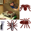 """New Holiday Simulation Remote Control 11"""" 2 Channel Realistic RC Spider Eyes Shine Tricky Scary Toy Prank Gift Model"""