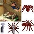 """Nuevo día de fiesta de simulación de Control remoto de 11 """" 2 canales realista RC araña ojos brillo Tricky Scary Prank Gift Toy modelo"""