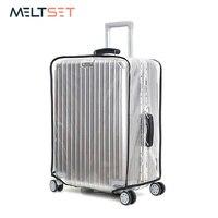 Pvc 투명 수하물 커버 wateproof 방진 여행 가방 커버 지우기 가방 커버 7 크기 18 30 인치 dustproof cover travel transparent bagclear travel bags -