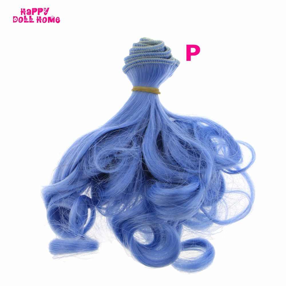 15*100 cm DIY Rinka corte de cabelo Perucas de Cabelo Encaracolado para Blythe Boneca SD BJD 1/3 1/4 1/6 Cabeça de Boneca perucas acessórios de Brinquedo