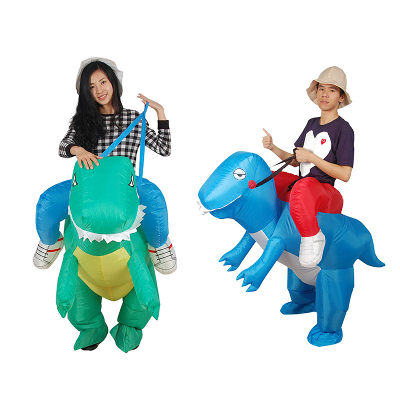 Dinosaur Inflatable Costumes for Woman Adults Men Inflatable Cowboy Ride Dinosaur Costumes Cosplay Men Dinosaur Party