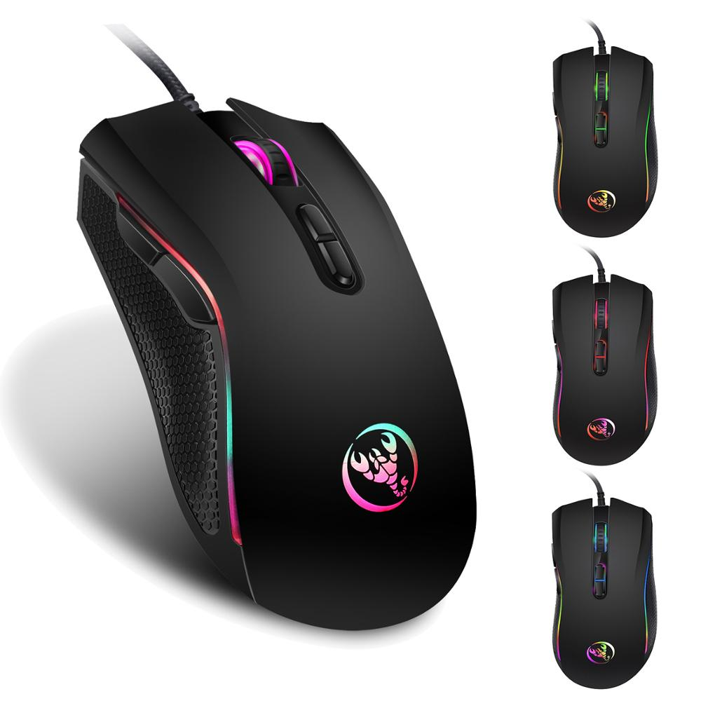 39e2aa28c94 Gaming Mouse Wired 3200 DPI Breathing Light Ergonomic Game 7 Buttons USB Computer  Mice RGB Gamer Desktop Laptop PC Gaming Mouse