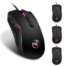 Gaming Mouse Wired 3200 DPI Breathing Light Ergonomic Game 7 Buttons USB Computer Mice RGB Gamer Desktop Laptop PC Gaming Mouse original razer mamba tournament edition wired gaming mouse 16000 dpi 5g laser sensor chroma light ergonomic gaming mouse