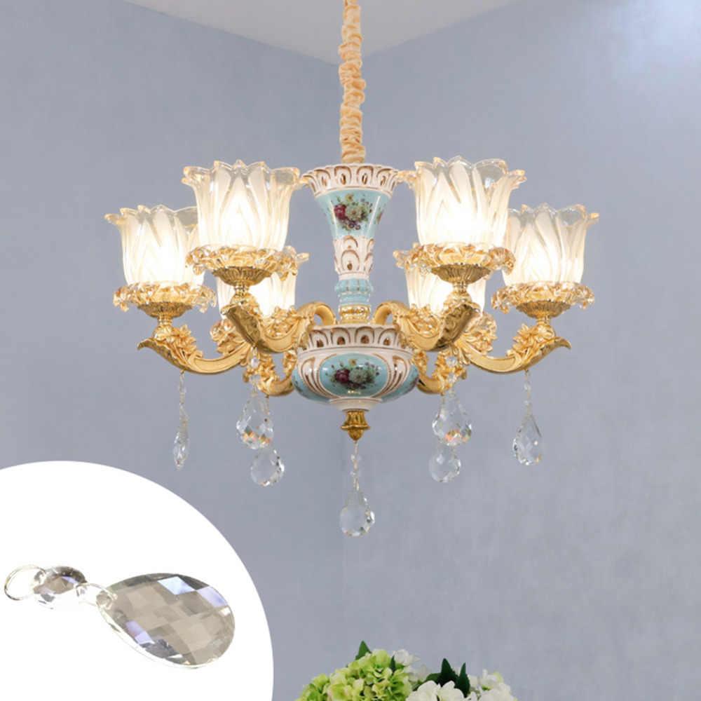 10 шт./лот 50 мм Bauhinia прозрачное искусство стеклянные капли люстра подвесной висячий светильник призмы многогранные бусины для дома X'masDecor 40
