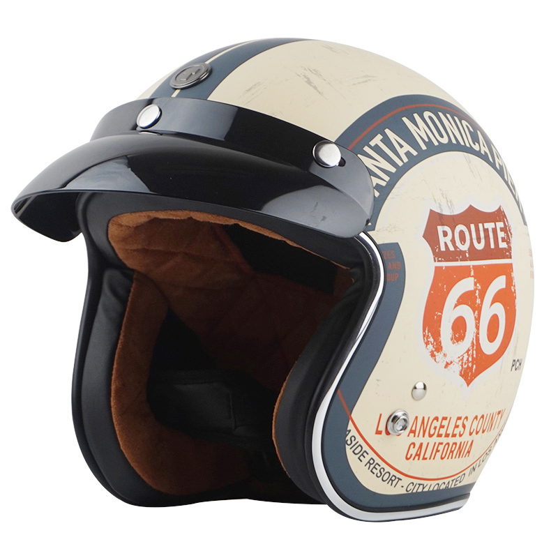 TORC T50 Halley Vintage Motorcycle Helmet 3 4 Open Face Retro Moto Racing Scooter Helmet DOT