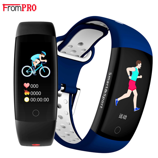 Q6S Smart Bracelet Colors 3D dynamic Blood Pressure Heart Rate Monitor Smartband Wristband Waterproof Sports Fitness Watch Band