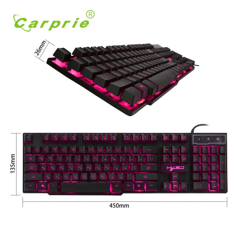 Carprie New HXSJ USB wired Discoloration Russian version of the game keyboard + Gaming Mouse 17May23 Dropshipping secrets of the russian chess master – fundamentals of the game v 1