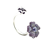 Top Quality 925 Sterling Silver Glorious Blooms Multi Colored CZ Rings for Women Wedding Finger Decorate Ring Original Jewelry