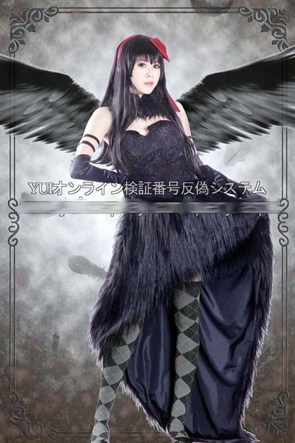 Anime Puella Magi Madoka Demon Akemi Homura Black Cosplay Costume Dress Custom made Any Size New