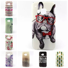 Cute Style Case for HTC One M9 Case Dog Cat Flower Gel Soft Silicone Back Covers