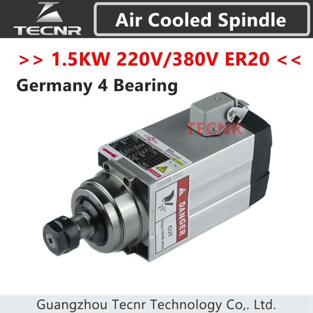 4pcs Ceramic Bearings 1.5KW air cooled spindle motor  220V 380V ER20 runout-off 0.01mm4pcs Ceramic Bearings 1.5KW air cooled spindle motor  220V 380V ER20 runout-off 0.01mm