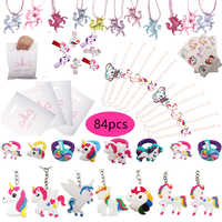 84pcs Unicorn Party Favors Unicorn Bags Birthday Gift For Kids/Guests Small Present Party Supplies Set Novelty Toys Girls