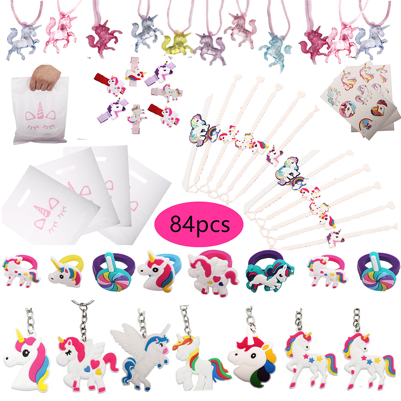 84pcs Unicorn Party Favors Unicorn Gift Bags Birthday Gift For Kids Guests Small Present Party Supplies