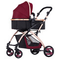 9 colors light baby stroller Europe baby stroller light aluminum alloy basis baby folding four baby trolley send nine free gifts