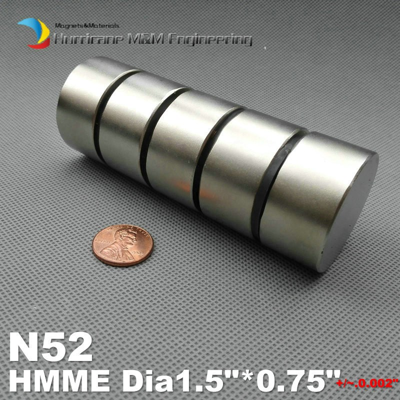 5 pcs/lot NdFeB N52 Disc Magnet Dia 38.1x19.05 mm thick Strong Neodymium Permanent Magnets Rare Earth Filter Magnets 1pcs 20 mm x 5 mm craft model super powerful strong rare earth disc ndfeb magnet neo neodymium n52 magnets 20 x 5 m 20 5