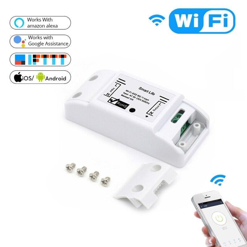 Умный выключатель SPetu с Wi-Fi, Универсальный Беспроводной Выключатель с таймером, работает с приложением Alexa Google Home IFTTT