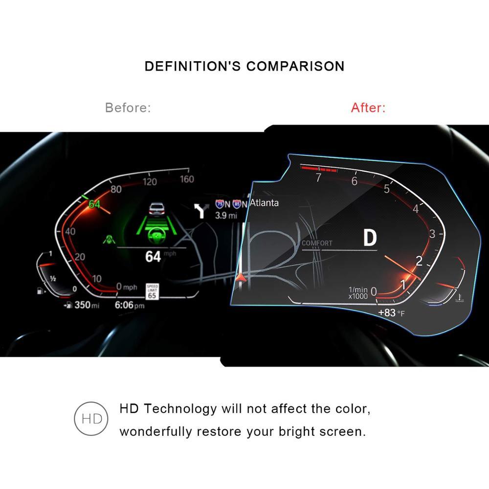 Image 4 - RUIYA Защита экрана для BMW X5 G05 ЖК дисплей экран приборной панели, 9 H Закаленное стекло протектор защита от ежедневных повреждений-in Защита экрана from Бытовая электроника on AliExpress - 11.11_Double 11_Singles' Day