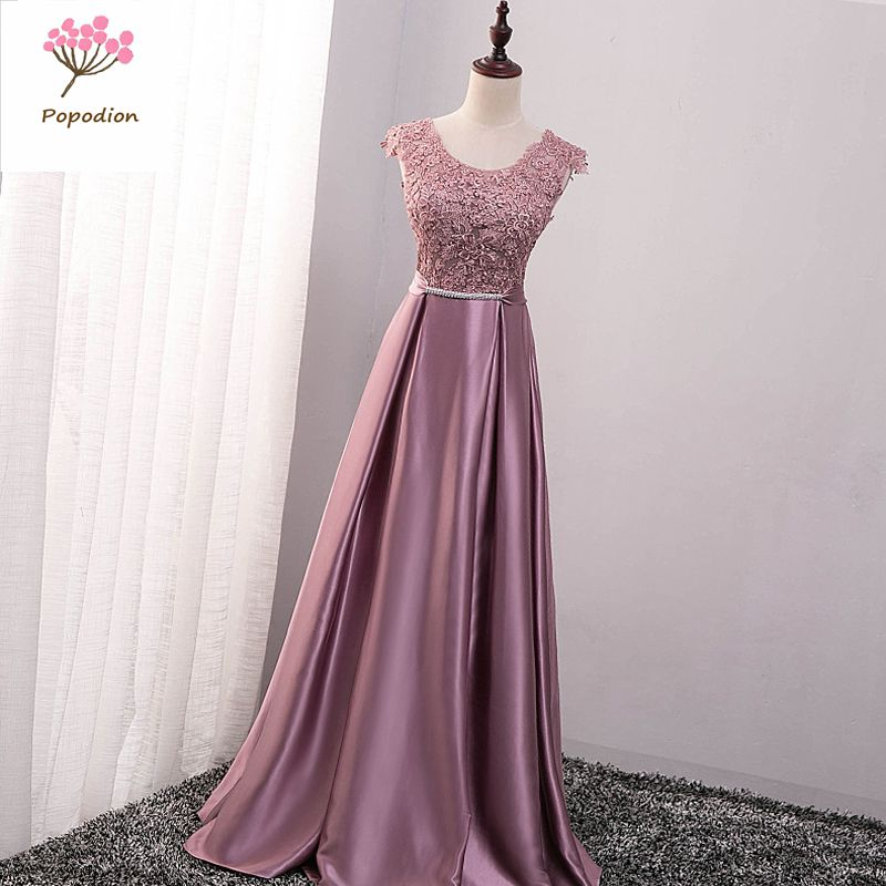 Popodion Long Bridesmaid Dresses Dress For Wedding Party