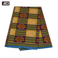 ACI-Fashion Design Ghana Kente Stof 6 Yards, Afrikaanse Java Waxprint, Hoge Kwaliteit Ankara Wax Ghana Kente Groothandel
