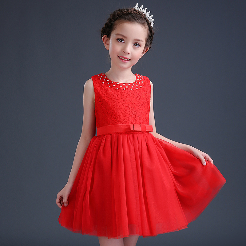 2017 Summer New Kids Wedding Dress Princess Party Costume Infant Clothing Baby Clothes Birthday Girls Tulle Tutu Dresses Vestido недорого
