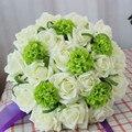 Nuevo 2016 Flores de La Boda que sostiene la flor ramo de novia que sostiene la flor de simulación de Corea DIY de la boda de dama de honor de la boda hermanas