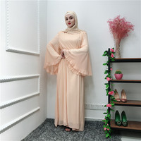 Elegant Muslim Long Robe Gowns Kimono Jubah Moroccan Abaya Dress Cardigan Flower Silk Linen Thobe Islamic Clothing Middle East