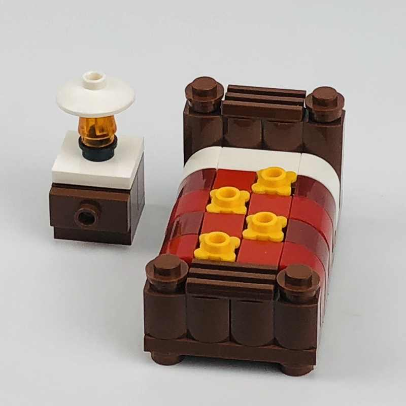 Создатель город кровать диван пианино компьютерный стол Автомобильная станция сцены фигурки строительный блок MOC аксессуары Запчасти игрушка для детей города комплект