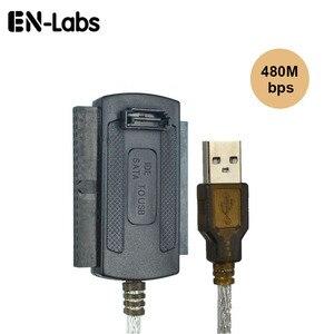 """Image 2 - En מעבדות 3 in 1 USB 2.0 לide/SATA 2.5 """", 3.5 """"כונן הדיסק הקשיח HDD SSD 480 Mb/s ממשק נתונים ממיר מתאם כבל"""