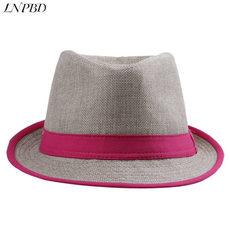 af108df5c46 Fashion Women and Mens Unisex Neon Brim Fedora Trilby Gangster Cap Summer  Beach Hat Boho Sun