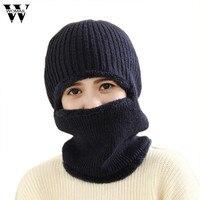 Balaclava mask winter Hats for women men knitted beanies cap Full Face Thick Warm Hats
