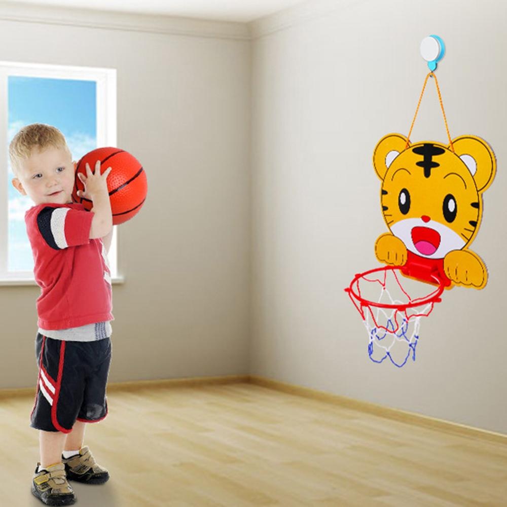 Indoor Adjustable Frog Tiger Hanging Basketball Netball Hoop Mini Kids Game Funny  Indoor Outdoor Sports Interactive Game Toys