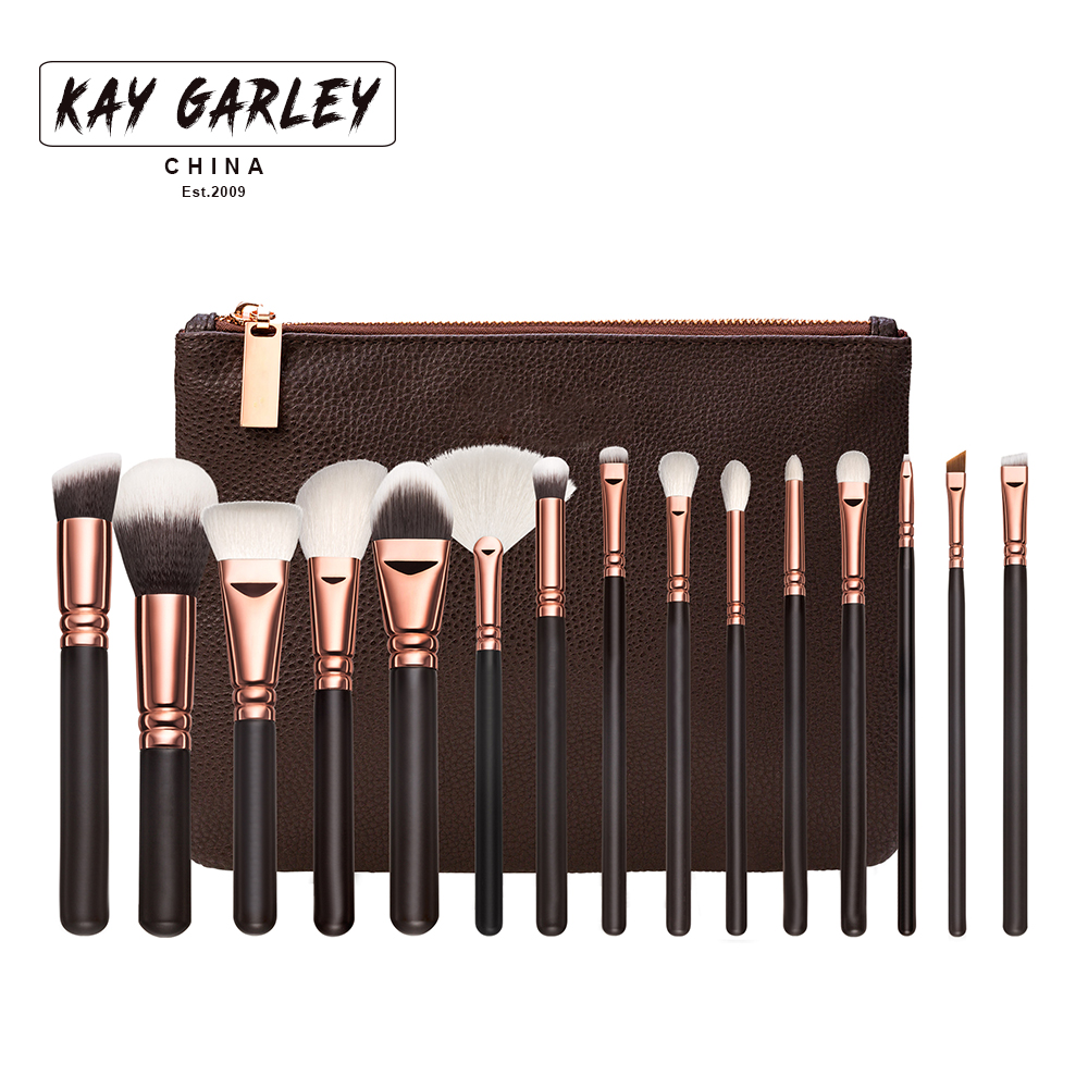 KJL Pro 15Pcs/Kit Makeup Brushes Set Eye Shadow Brow Eyeliner Eyelash Lip Foundation Power Cosmetic Make Up Brush Beauty Tool maange pro 18pcs kit makeup brushes set eye shadow brow eyeliner eyelash lip foundation power cosmetic make up brush beauty tool