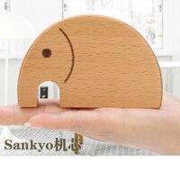 Cute elephant wooden music box Romantic Gift Music Box