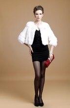 Real natural genuine full pelt rabbit fur coat women whole skin fashion short winter fashion jacket