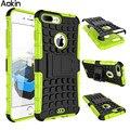 Aokin caso híbrido robusto para iphone 7 7 plus armadura difícil impacto stand capa dura para apple iphone 6/6 plus/6 s/5/5S/se/5c protector