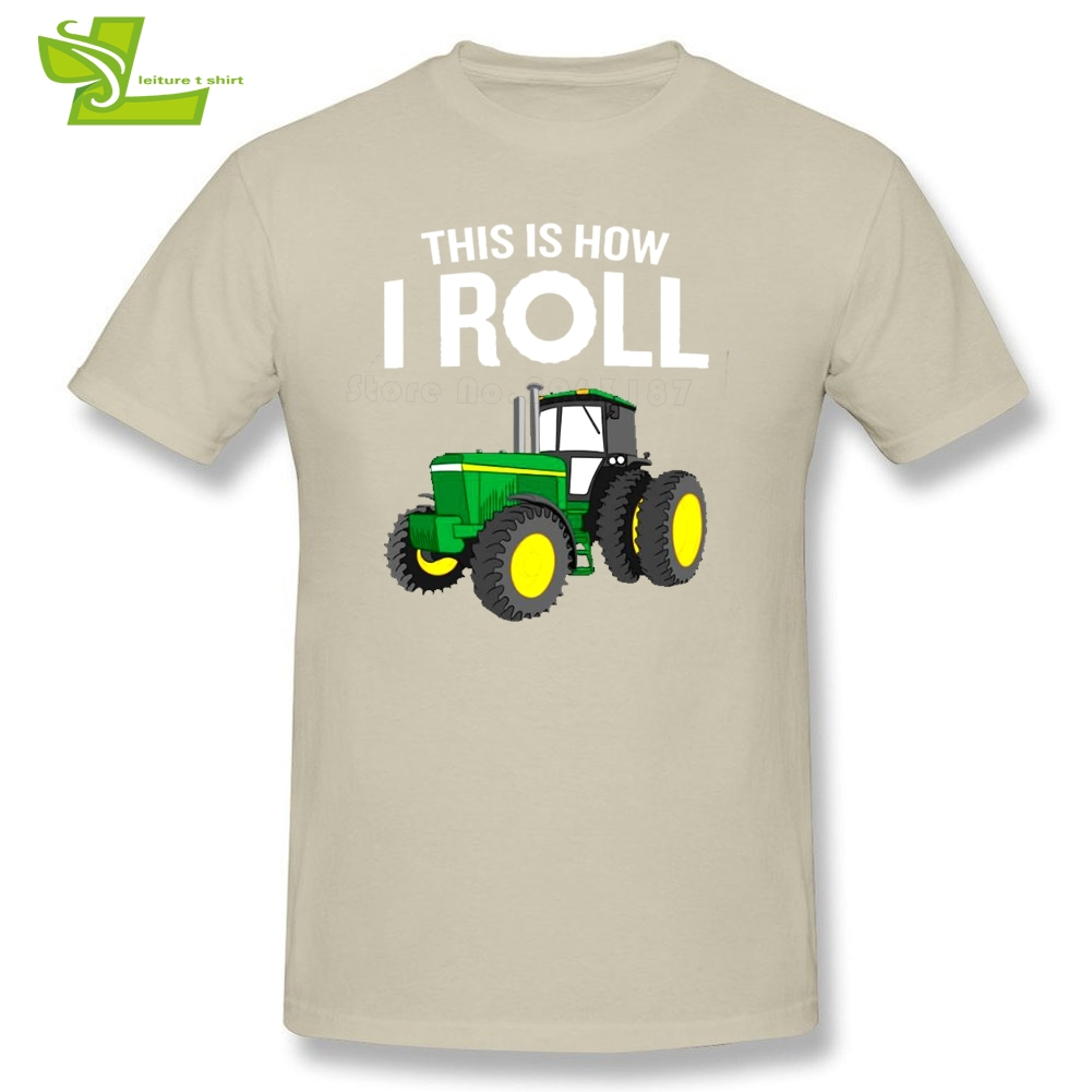 Farmers Tractor Male T Shirt Fashion Tops Boy This Is How I Roll Farmers Tshirts Teenboys Clothes Funny Quote Tractor Pun