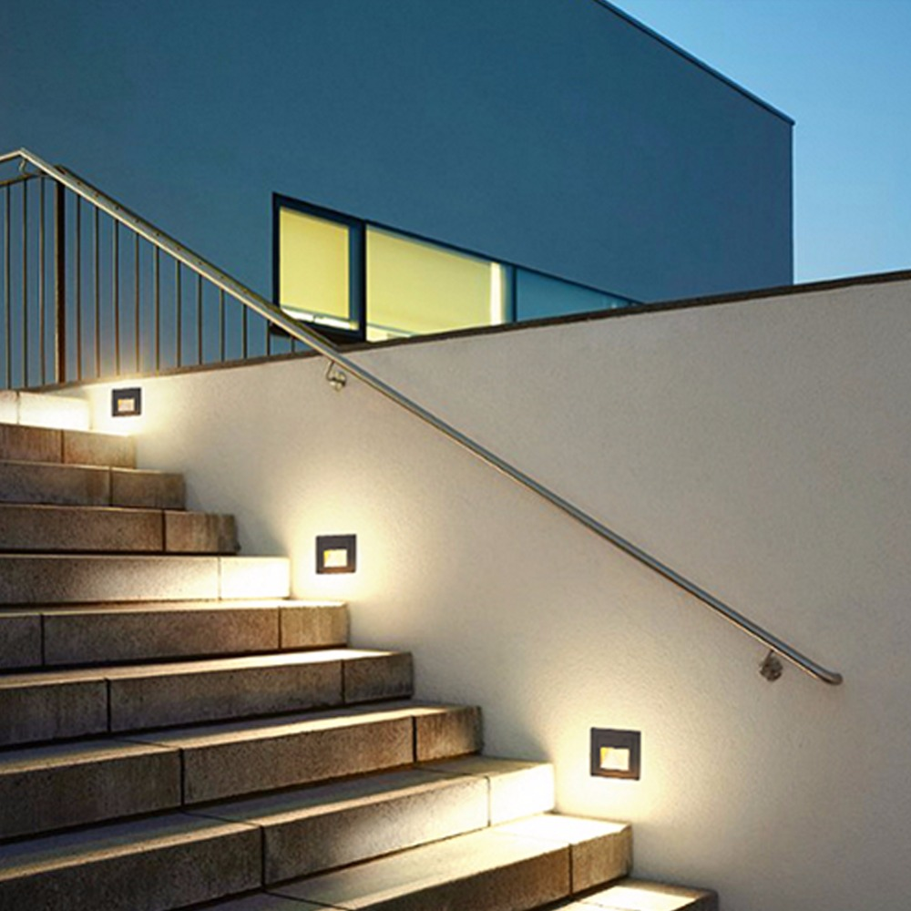 Us 85 0 In Juicy Modern Led Aisle Exterior Corner Step Lamp Aluminum Stair Light Waterproof Outdoor Gl Garden Foot Wall