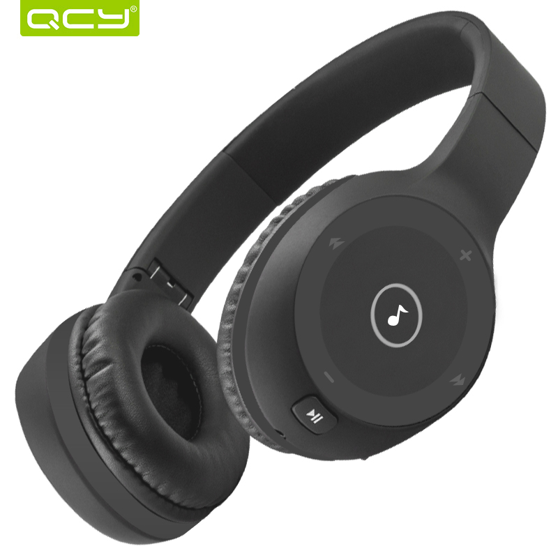 QCY J1 40hours Playing Time Bluetooth Headphones Support TF Card 3D Stereo Music Wireless and Wired Headsets for all phones wireless big headphones high quality bluetooth for cell phones stereo audio foldable earphones tf card music player de112b