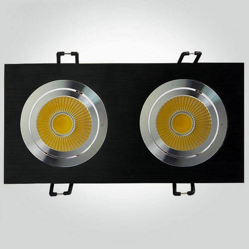 8PCS Square 2head LED Downlight 2x7W COB LED Таванни - Вътрешно осветление