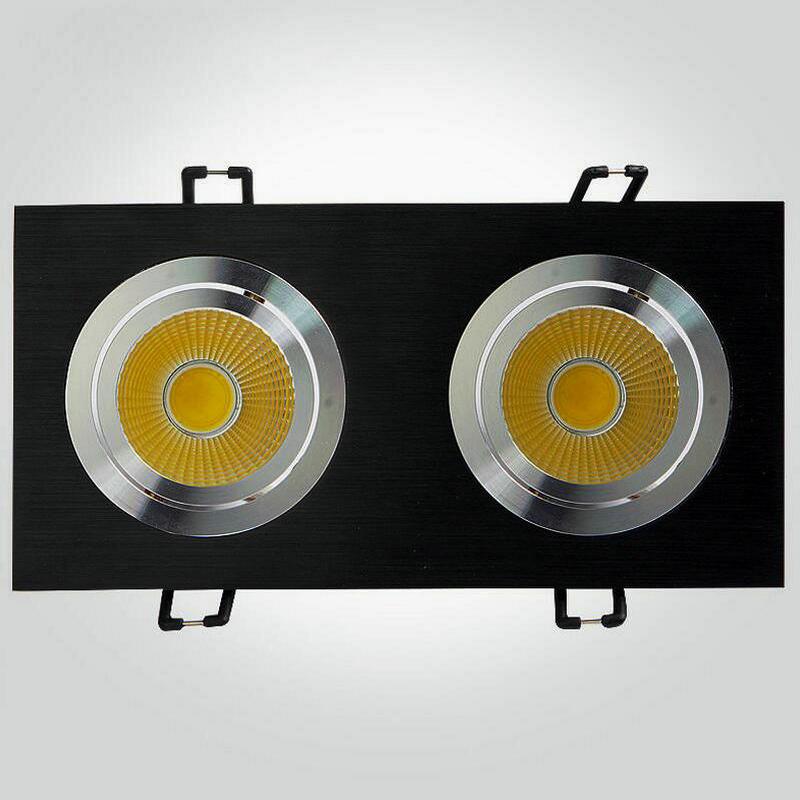 8PCS Quadrat 2head LED Downlight 2x7W PFEILER LED Deckenlampe - Innenbeleuchtung